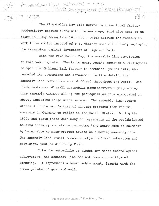 henry ford essay conclusion Free henry ford papers, essays, and research papers.